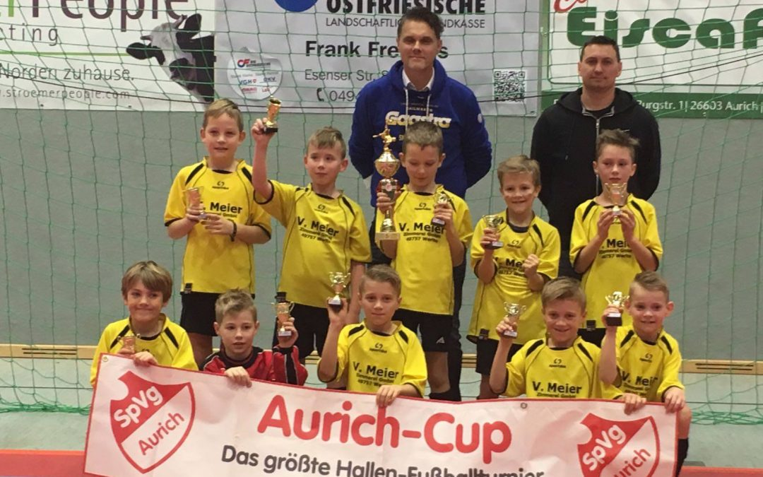Hallenfußball: Erfolgreiche F-Jugend Kicker