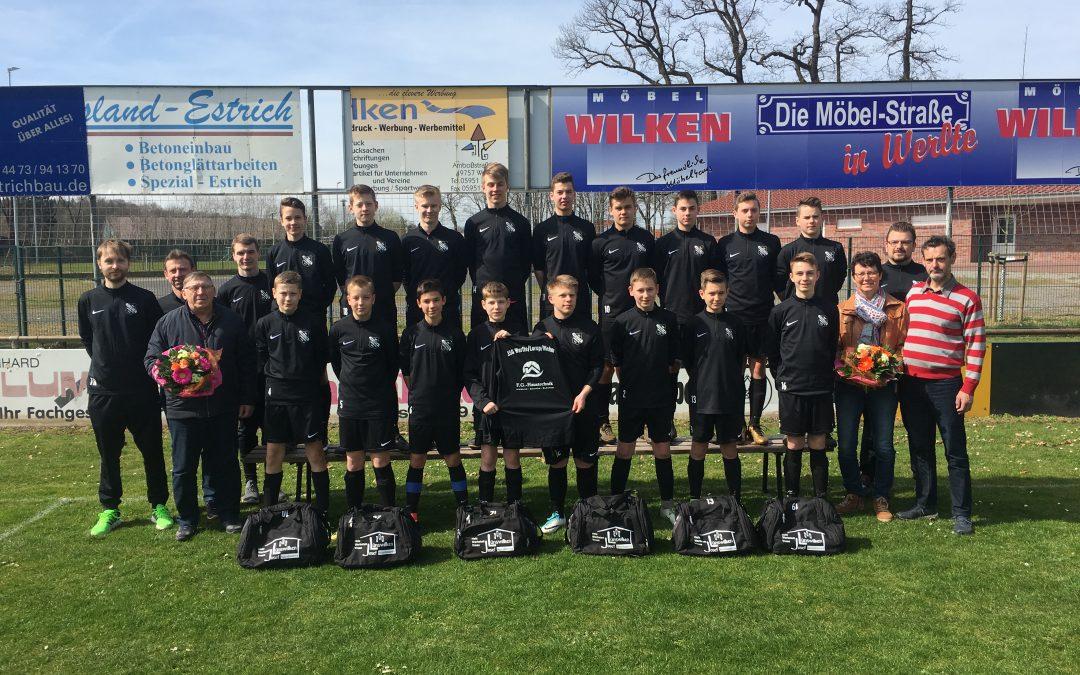 C1-Jugend der JSG Werlte/Lorup/Wehm wurde komplett neu ausgestattet